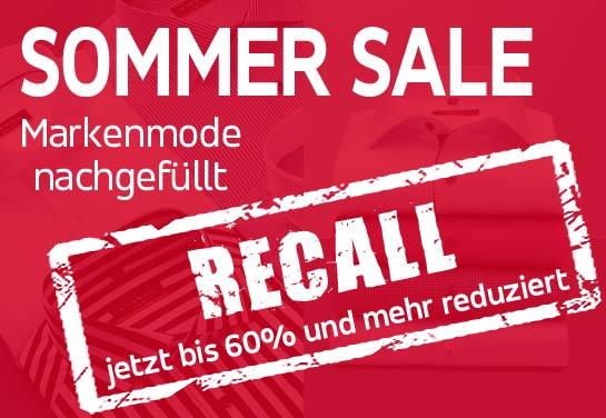 Sommer Sale - Recall. Bis 60% und mehr reduziert!