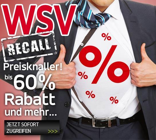 WSV Recall Preisknaller