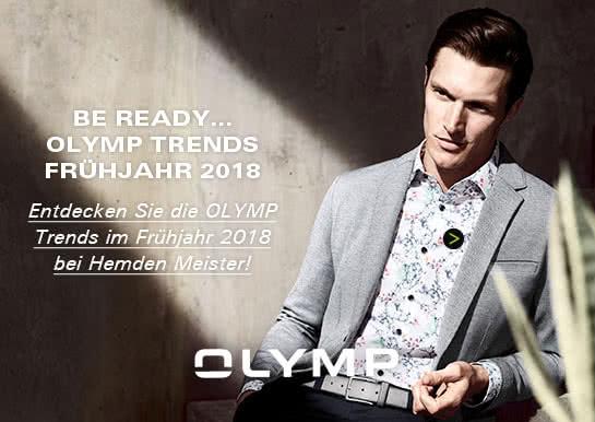 BE READY - OLYMP Trends bei Hemden Meister
