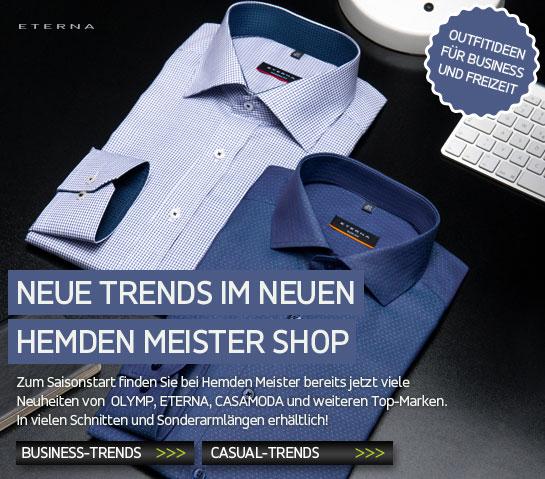 Neue Trends im neuen Hemden Meister Shop