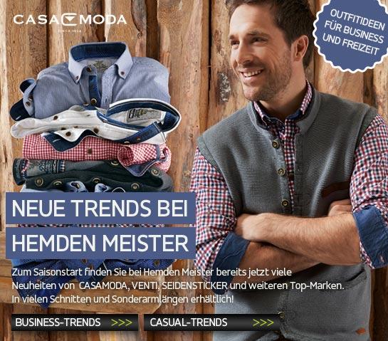 Neue Trends bei Hemden Meister