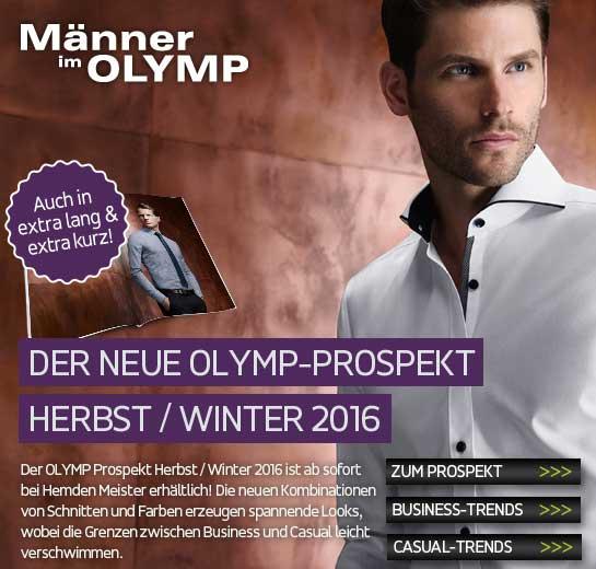 Der neue Olymp Prospekt bei Hemden Meister
