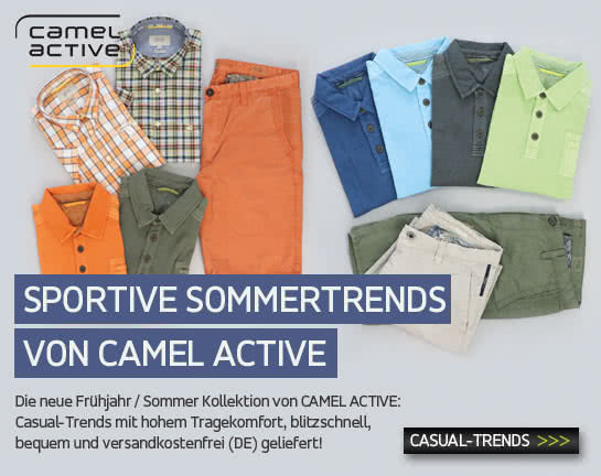 Sportive Sommertrends von CAMEL ACTIVE