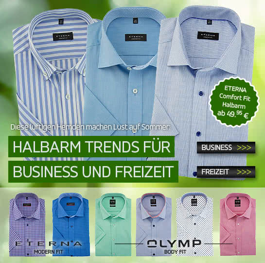 Halbarm-Trend bei Hemden Meister