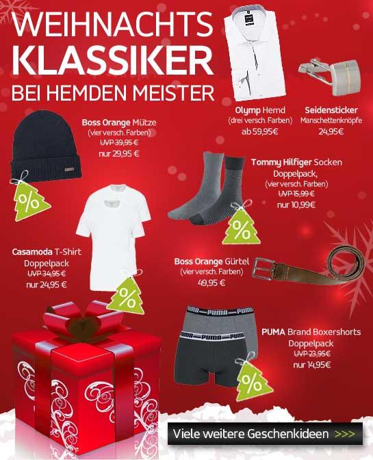 Weihnachtsklassiker bei Hemden Meister