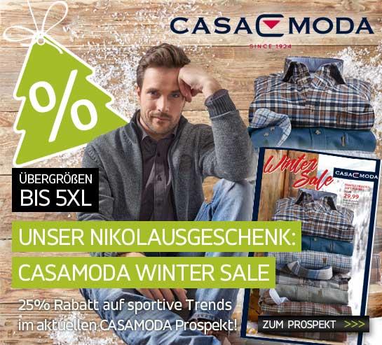Unser Nikolausgeschenk: CASAMODA Wintersale
